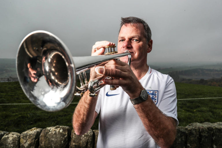 John Hemmimgham The trumpter for the England band | PR Photography in Sheffield and Leeds